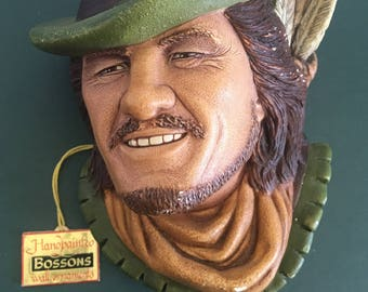 Vintage Collectible Bossons Robin Hood | Vintage Decor | Mid Century