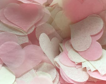 Wedding biodegradable Pale Pink and Ivory Confetti Packs