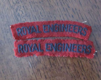 U.K. WWII Era Royal Engineers SHoulder Flash