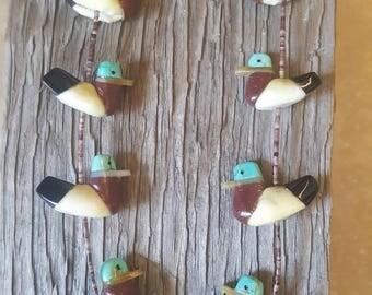 Heishi Duck Bird Fetish Necklace