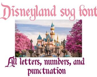 Disney Alphabet SVG | Disney Font SVG | Disneyland Font SVG | Disneyland Alphabet svg | Disney svg | Disney cut file | Silhouette Cricut