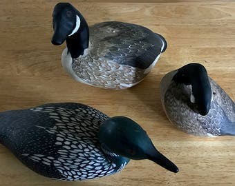 Loon and Canada Goose Decoy Handcrafted CANDLES-Yes, Really. Colorful, Excellent Detail. Realistic. Conversation Piece.