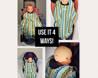 Carrier Cover /Car Seat Cover /Stroller Cover.