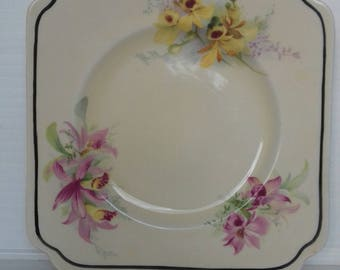 Royal Doulton Bread and Butter Plate, English Porcelain, Orchid Design