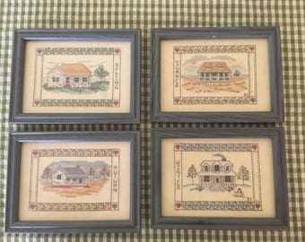 Homes for All Seasons Cross-Stitch