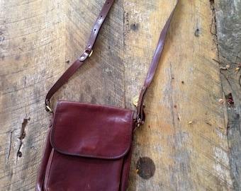 VINTAGE Brown Leather Purse, Genuine Brahmin bag