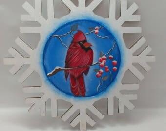 Snowflake Cardinal