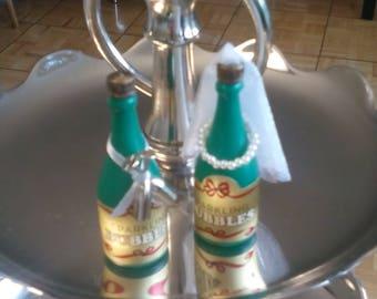 Blowing Bubbles Champagne Bottles Party Favors