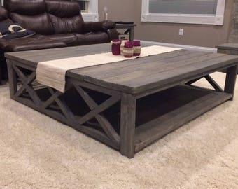 Custom Rustic Farm House Coffee Table