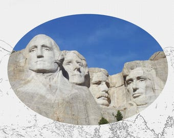 Mount Rushmore Wrapped Canvas Photo