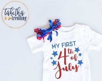 My First 4th of July Infant White Bodysuit