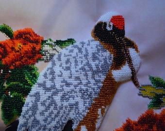 "Handmade Bird in the flowers 15.5"" x 10.5"""