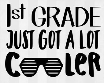 First Grade Cooler SVG Bundle, First Grade clipart, cut files, svg files for silhouette, files for cricut, svg, dxf, eps, cuttable design