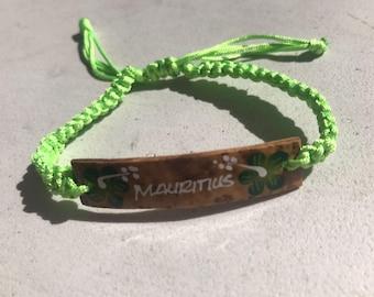 HANDMADE CORD BRACELET/Wristband (Mauritius)