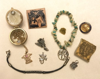 Vintage And Newer Religious Jewelry Lot