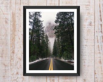 Roads Print, Roads Wall Art, Roads Decor, Roads Printable, Roads Art, Printable Wall Art - Instant Download