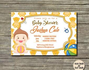 Baby Shower Invitation / Baby Shower / Baby Shower Invitation Boy / Baby Shower Invitation Girl