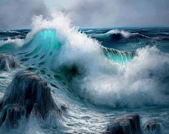 Stormy Seas Cross Stitch Pattern