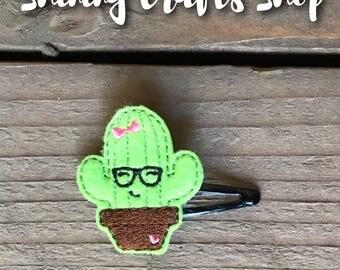 Geeky Cactus Feltie Hair Clip