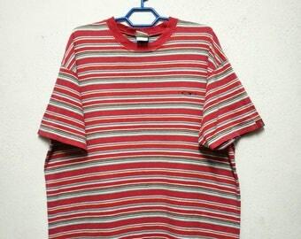 Vintage OP Ocean Pacific Surf Surfboard Stripe Striped T-shirt