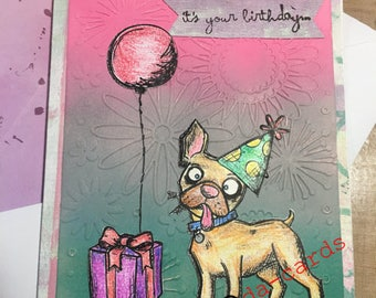 Crazy Dog Birthday Card