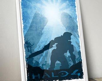 """HALO 4 fan art poster 13x19"""""""