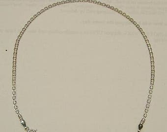 """New 14k White Gold Anklet 9"""" Extension to Convert to Necklace-Free Shipping!"""