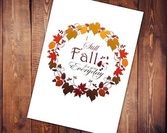 Art Print - Fall for you
