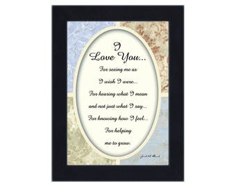 I love you, In Love with You Picture Frame, 7x9 77920