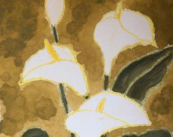Callas, watercolour