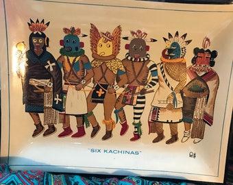 Six Kachinas commertive plate