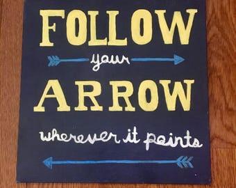 Arrow Print Canvas