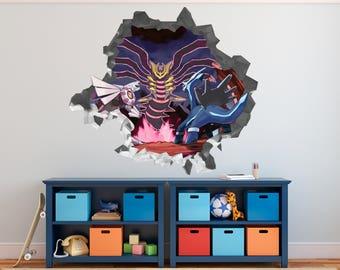 Pokemon Kids Wall Decal 3D Kids Sticker Art Decor Vinyl Door Smashed   3D  Sticker   Part 82