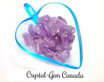 3 (three) Beautiful Amethyst, Pocket Stone. - Gemstone for spiritual energy, concentration and memory. Gemstone  infused w Reiki