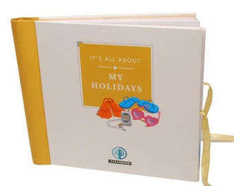Sale - Perfect Gift -  Seranders Luxury Kids travel journal, Interactive, keepsake. It's All About My Holidays