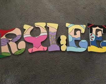 Disney Princess Themed Letters