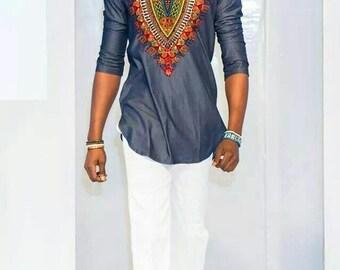 African men's wear, African fashion, African clothing, Men long sleeve native wear, men dashiki designs