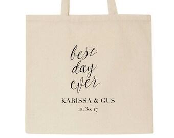 Wedding Tote Bag | Custom Tote Bag | Beige Tote Bag | personalised Tote Bag | Bridesmaid Tote Bag | Canvas Tote | Custom Tote bag