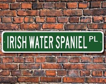 Irish Water Spaniel, Irish Water Spaniel Lover, Irish Water Spaniel Sign, Custom Street Sign, Quality Metal Sign, Dog Owner Sign, Dog Lover