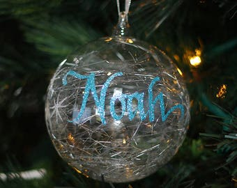 Icicle Glass Personalised Christmas Decoration