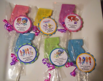 12 Shimmer and Shine 5th Birthday Party Favor Gourmet Chocolate lollipops with custom tags