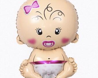 Giant Baby Girl Balloon