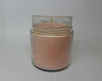 Vegetable soy wax scented candle love.