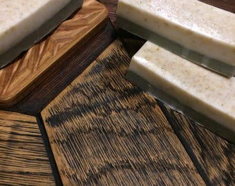 Nourishing soap. Basased on goats milk with oatmeal and blue clay.