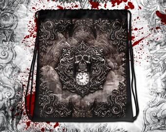 Baroque Reaper's Skull Drawstring bag