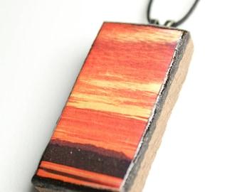 Prairie Sky #2 Wooden Pendant