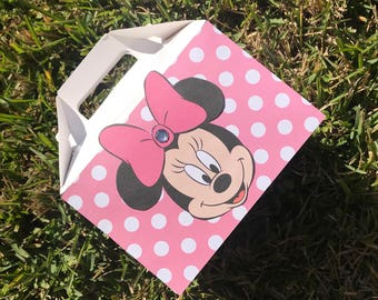 Minnie Mouse party favors, Minnie Mouse birthday decorations, Minnie Mouse favor box Minnie Mouse party set of 12
