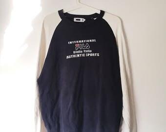 RARE !! Vintage FILA Biella Italia Authentic Sports Sweatshirt