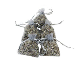 Lavender Sachet Bags, 25 PCS Organza Bags Gift Sachets, Wedding Favor Aromatic Potpourri Dried Handmade Fragrance Lavender Buds - LS001-15