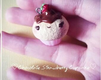 Chocolate Strawberry Cupcake Polymer Clay